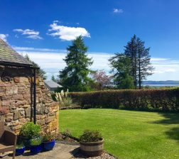 view from Pitmiddle patio towards River Tay