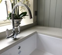 Large Shaws Belfast sink in kitchen